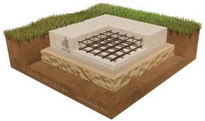 монолитная плита на песке схема