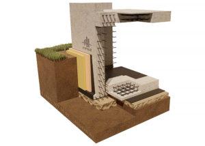 фундамент с цокольным этажем схема