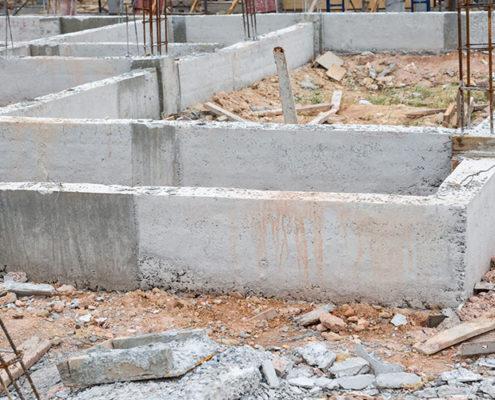 строительство блочного фундамента под ключ