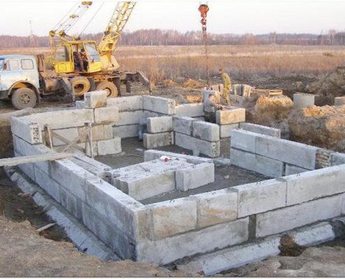 блочный фундамент в Московской области