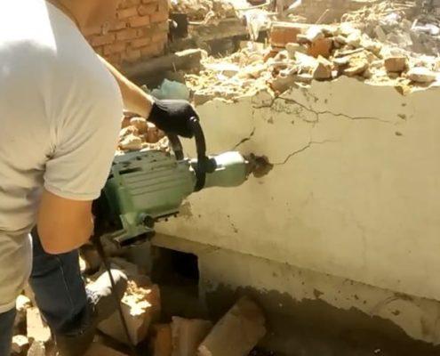 демонтируем фундамент в московской области